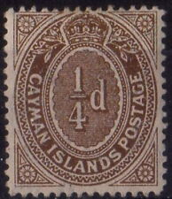 s636376 Cayman Islands- Sc#31 Hinged With Remnants - Read Description