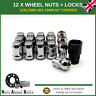 Wheel Nuts + Locks 12+4 M12x1.5 For Honda Jazz (2001-09) With Aftermarket Alloys