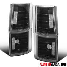 For GMC 94-98 C/K C10 Sierra Black Corner Turn Signal Lights Lamps Pair
