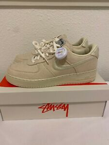 Size 10.5 - Nike Air Force 1 Low x Stussy Fossil - CZ9084-200