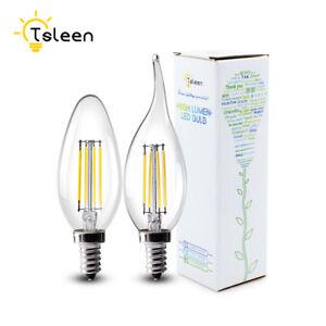 e14 4w 8w retro filament 220v cob led bulb white candle flame lights edison lamp