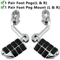 """Long Angled Highway Foot Pegs Rest 32mm 1 1/4"""" 1.25"""" Engine Guard Bar MOTORCYCLE"""