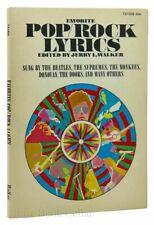Favorite Pop/Rock Lyrics - scholastic paperback - H0 - edited by Jerry L. Walker