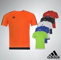 Mens Adidas Climalite Short Sleeves Top 3 Stripe Sereno T Shirt Sizes S-XXL