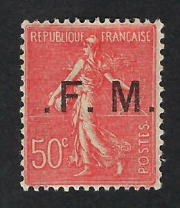 France 1929 nº 6b - Franchise FM - MH