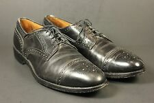 Allen Edmonds Sanford Leather 10.5 AA Black Oxford Cap Toe Dress Shoes Made USA