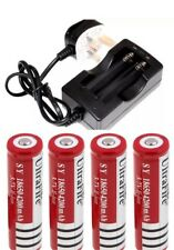 4 X 18650 4200 mah Ultrafire Batteries And Charger With Fused UK Plug