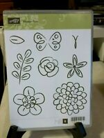 Stampin Up Rubber Stamp Flowers, Flower Fest