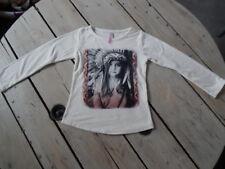 T-shirt manches longues blanc imprimé Indienne G'KIDS Taille 5 ans / 110 cm