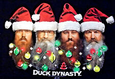 Duck Dynasty Black Christmas T-shirt Santa Hats Lights Womens 3X NWOT