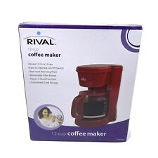 New Rival 12 Cups Coffee Maker Model 120-VAC 60 HZ Red Glass Non-stick Plate