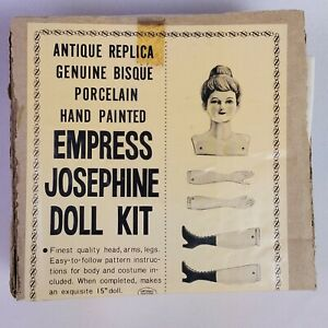 Shackman Empress Josephine Doll Kit Bisque 15 in Vintage Complete w/ Fabric NEW