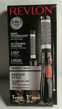 """Revlon 2 in 1 3X Ceramic And Ionic 3 PC. HOT AIR KIT 1"""" BRUSH & 1 1/2"""" BRUSH"""