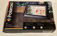 "Polaroid 7"" Digital Picture Frame Black frame New In Box -A4"