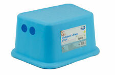 Kids Toddler Step Stool with Rubber Grips Sink Basin Potty Training - BLUE
