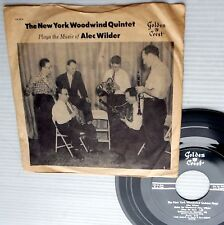 "NEW YORK WOODWIND Quintet plays ALEC WILDER 1961 7""ep PROMO Picture Sleeve w5524"