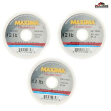 (3) Maxima Chameleon Fishing Line Leader Tippet Wheel 12lb ~ New