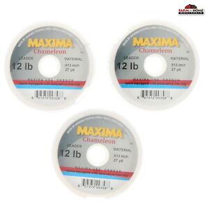 (3) Maxima Leader Wheel Fishing Line 12lb Test 27yds ~ NEW