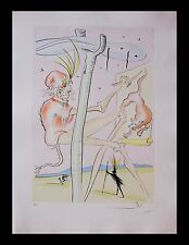 "Salvador Dali ""The Monkey and the Leopard"" Original Engraving 74-1(H) COA LE Art"