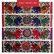 Indian Tapestry Wall Hanging Table Mandala Runner Elephant Embroidery Handmade