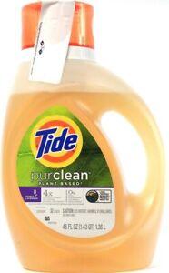 1 Count Tide 46 Oz Purclean Plant Based Honey Lavender 32 Lds Laundry Detergent