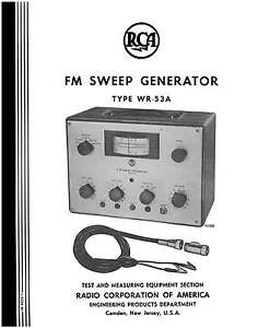 RCA WR-53A FM Sweep Generator manual