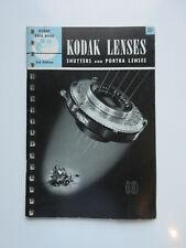 VINTAGE KODAK LENSES, SHUTTERS AND PORTA LENSES 1948 KODAK DATA BOOK