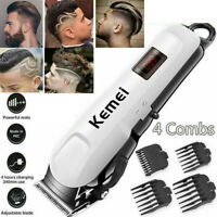 KEMEI Professional Hair Clippers Men's Basic Barber Set Mains Trimmer Shaver US