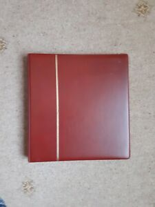Empty red SAFE DUAL ring binder with front and back leaves very good condition