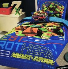TEENAGE MUTANT NINJA TURTLES CHILDREN KIDS SINGLE DOONA QUILT COVER PILLOWCASE