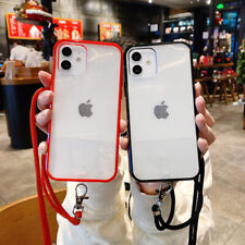 Lanyard Neck Strap Retractable String Case For iPhone 12 11 Pro XS Max 7 8 Plus