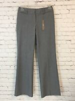 Ann Taylor Womens Dress Pants Size 2 Gray Julie Trouser Curvy Hip Fit Bootcut