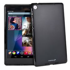 Fosmon Frosted Matte TPU Gel Rubber Skin Case for Google Nexus 7 2nd Gen - Black