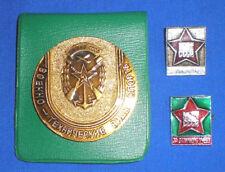 Soviet Russian Army DOSAAF Desk Medal PLAQUE & BADGES