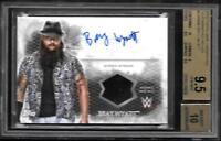 2015 Topps WWE Undisputed AUTOGRAPH Shirt UAR-BW Bray Wyatt GEM MINT BVG 10 9.5