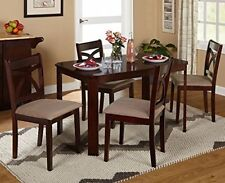 New Verbena Collection Contemporary Dining Set table & 4 chairs espresso