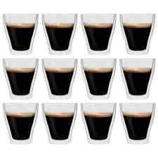 vidaXL 12x Thermoglas Dubbelwandig Espresso Glas Thermoglazen Glazen Mok Beker