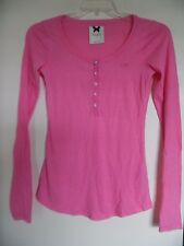 Gilly Hicks Women's Scoop-Neck Top Size Small Long Sleeve Pink