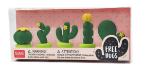 Legami Free Hugs - Shaped Eraser Set Cactus