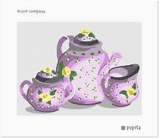 Teaset Company Needlepoint Canvas (Coffee/Home)