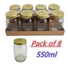 550ml Glass Bottle Mason Jar Metal Lids Storage Kitchen Spice Candy Lolly Bulk