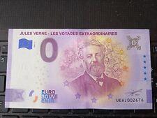 BILLET EURO SOUVENIR 2021-3 JULES VERNE LES VOYAGES EXTRAORDINAIRES ANNIVERSAIRE