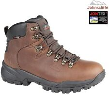 JOHNSCLIFFE® CANYON Hiking / Walking Boots. Waterproof Conker Brown Oil Leather