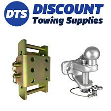 Towbar Trailer 3.5 Ton Adjustable Height Coupling Drop Plate 3.5 Ton Ball & Pin