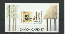 SAMOA - SGMS753 MNH 1987 WORKMAN TRIMMING LOGS - CAPEX 87