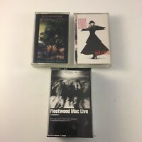 Fleetwood Mac / Stevie Nicks Cassette Lot : LIVE / TANGO IN NIGHT / ROCK LITTLE
