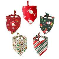 Christmas Pet Saliva Towel Cotton Triangle Scarf Dog Scarf Cat Scarf Accessories
