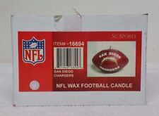 "SAN DIEGO CHARGERS NFL NEW IN BOX SC SPORTS 5"" WAX FOOTBALL SHAPE CANDLE A-1"