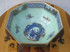 Wedgwood Fairyland Green Lustre Ware Oriental Dragon Large Octagonal Bowl c.1920