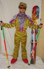 NEVICA GOLD Retro Vintage 80's 90's Ski Suit STAG Neon Apres Ski WOMENS UK10